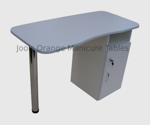 Pink and White Manicure Table