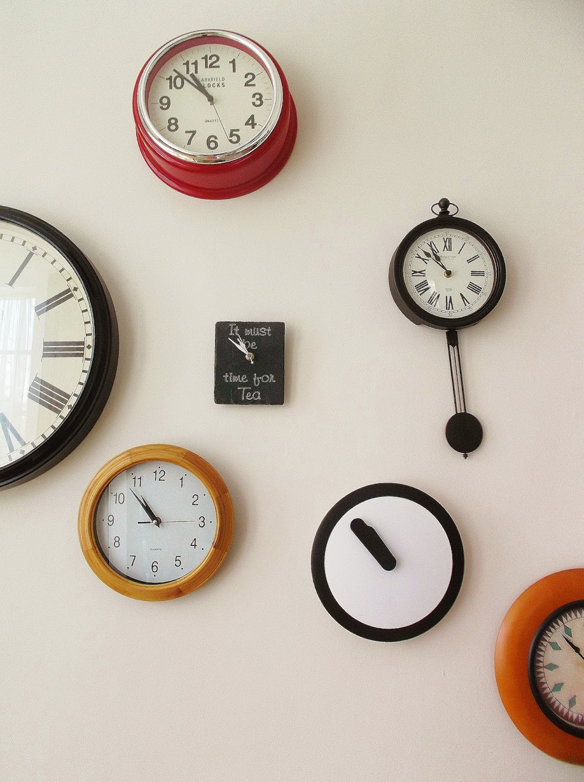 Interiors clock wall call me amy our clock wall is a constant work in progress and were always looking to add to it so this is by no means the end result amipublicfo Image collections