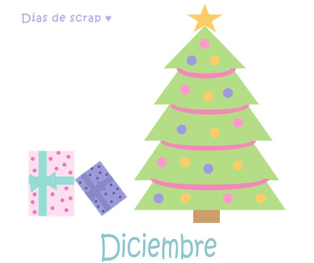 Freebies Calendario del mes de diciembre de Días de scrap Descargable