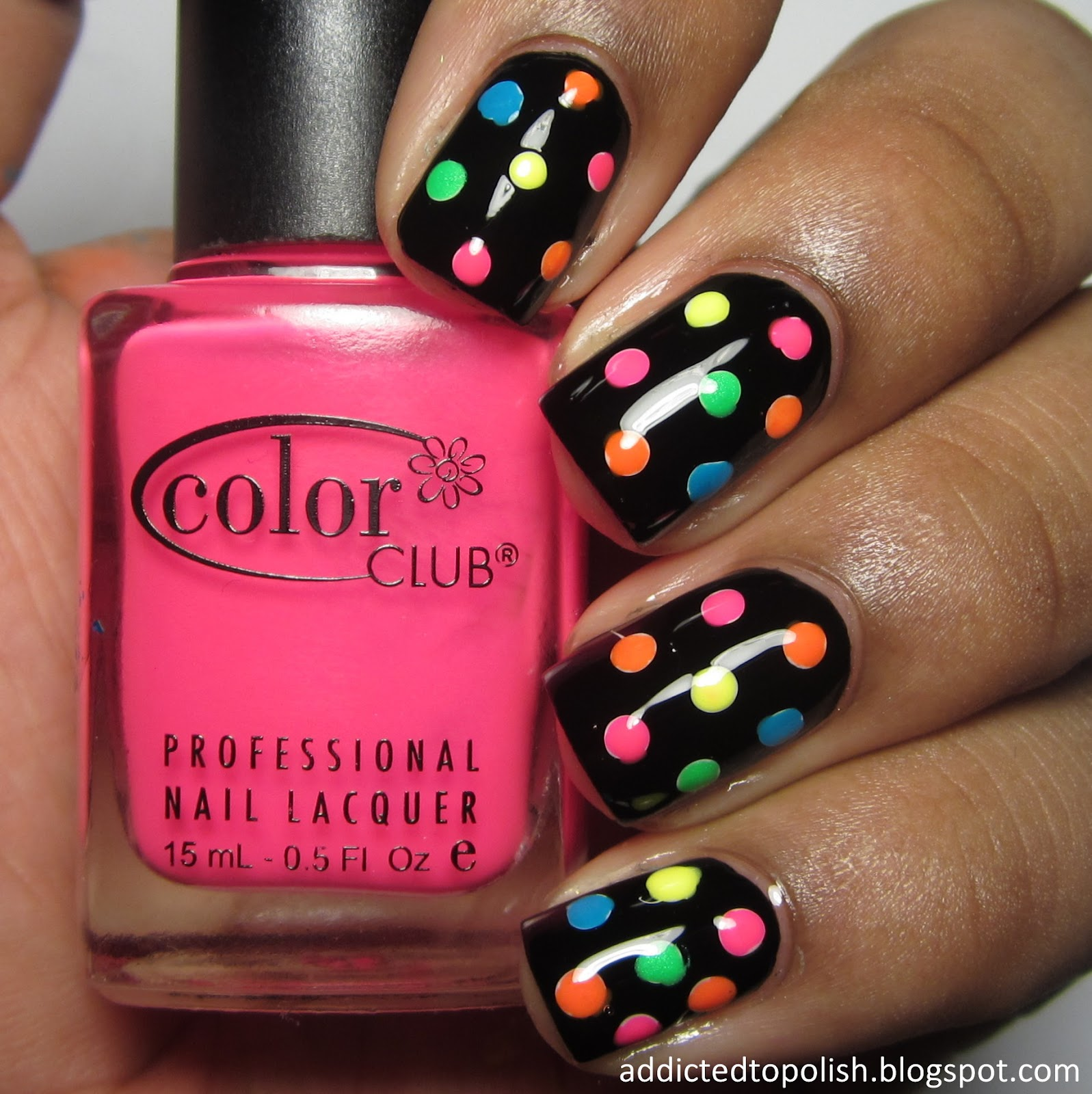 Neon Dots over Black Dotticure