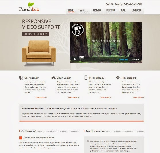FreshBiz WordPress Business Theme