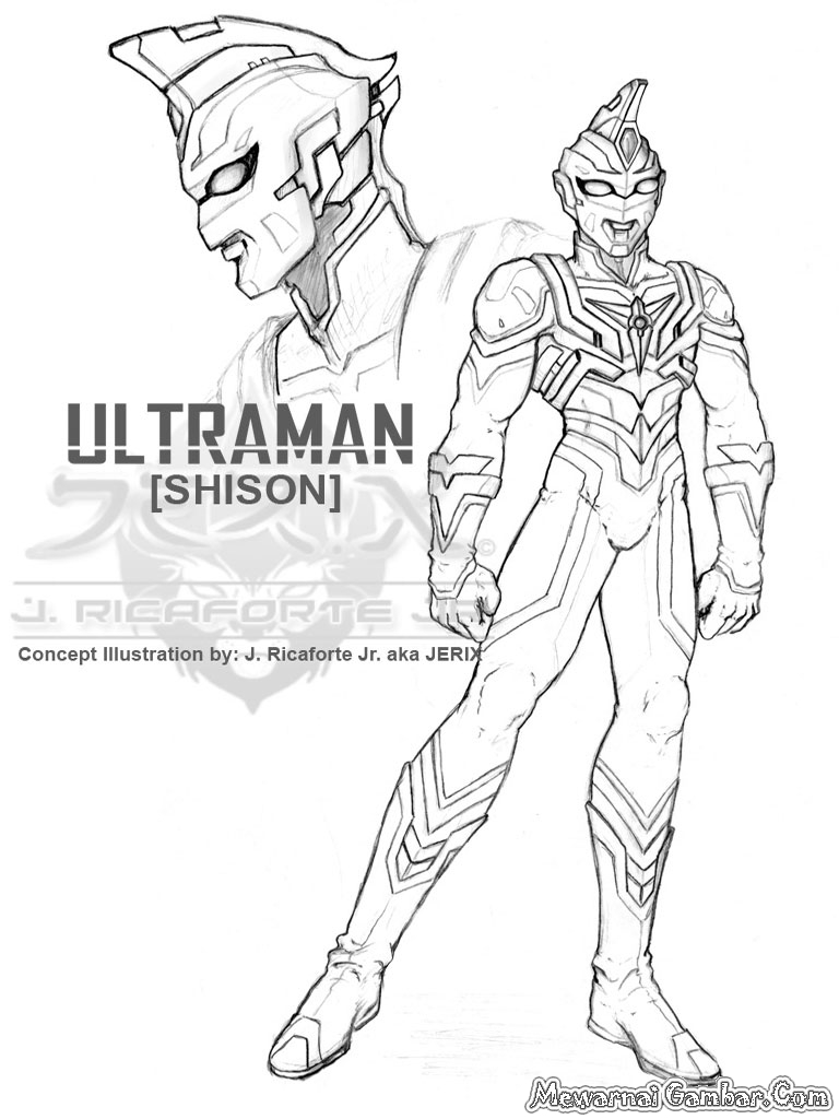 Download image mewarnai gambar ultraman pc android iphone and ipad