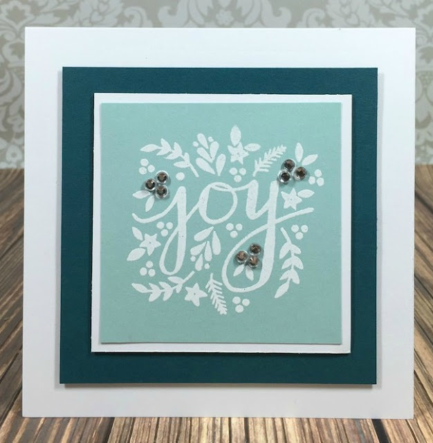 Simple Stamped Joy card