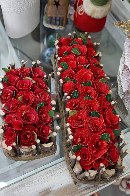rosas vermelhas - enfeites de Natal - loja Flor de Malagueta - Santos