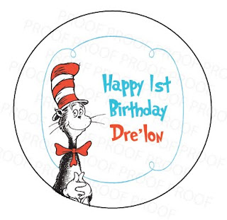 Cat in the Hat Personalized Stickers