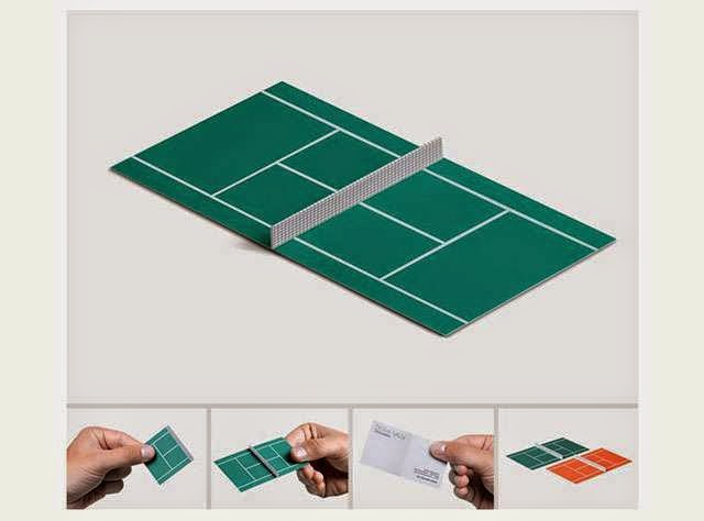 ilginç ve yaratıcı kartvizit tasarımlarına örnek, tenis malzemeleri satıcısı