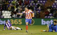 El Cebolla celebra el tercer gol del Atleti ante el Valladolid