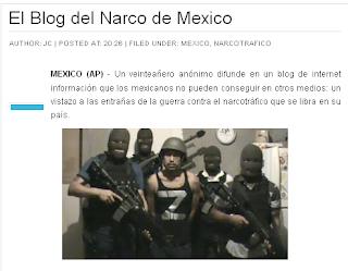 Block del Narco de Mexico