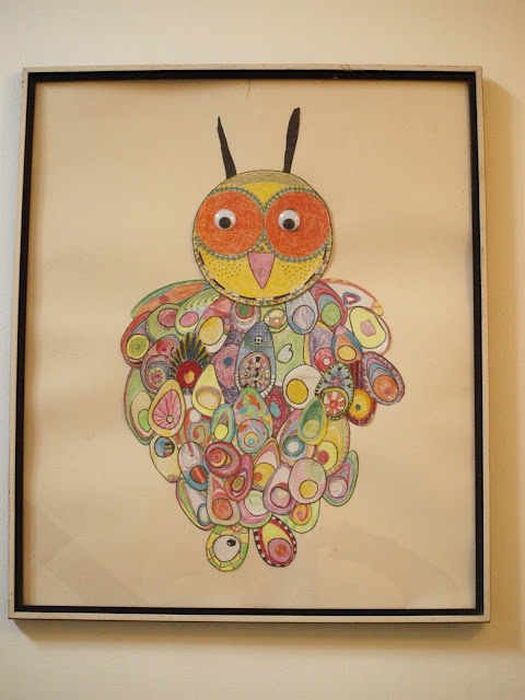 Færdig arbejde. Uglen er et sjovt billedkunstprojekt for alle aldre