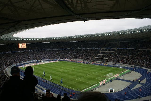 Hertha v. Union in Berlin Olympiastadion