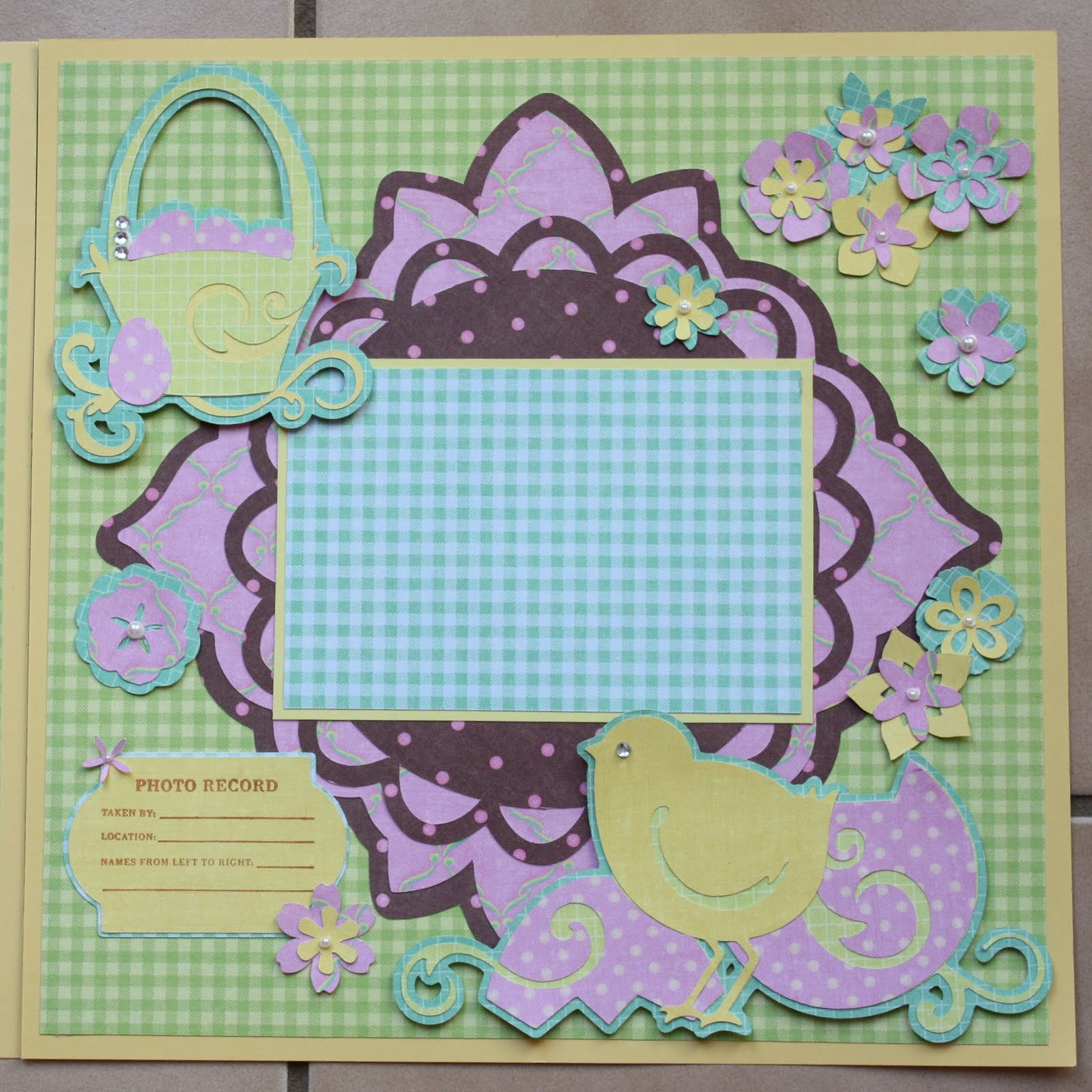 Scrapbook ideas easter -  Happy Easter 12x12 Double Layout