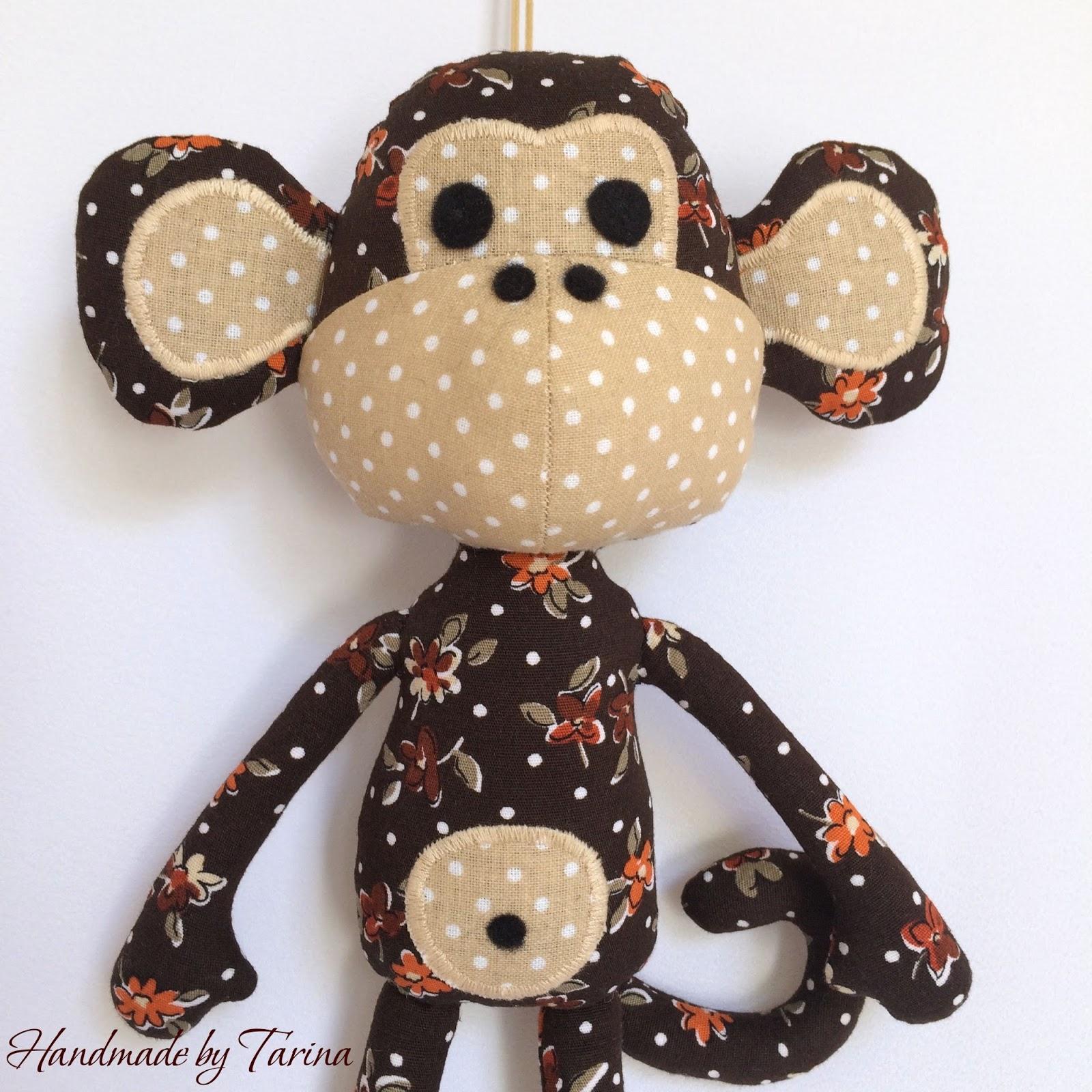 Как сшить обезьянку из ткани фото