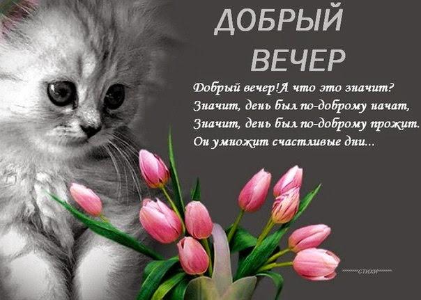 С добрым вечером поздравление