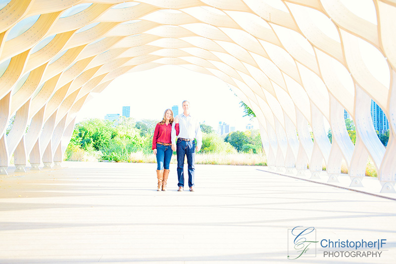 Lincoln Park Chicago Engagement Photo