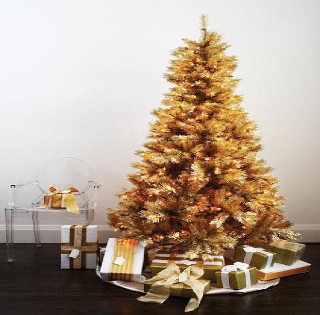 Pino bavaro de lujo oro dorado naviplastic arbol navidad - Arboles de navidad dorados ...