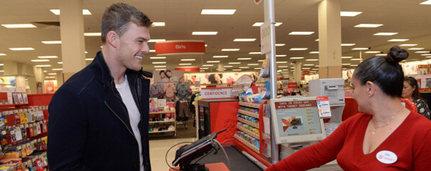 Alan Ritchson Shops Catching Fire DVD/Blu-Ray At Target