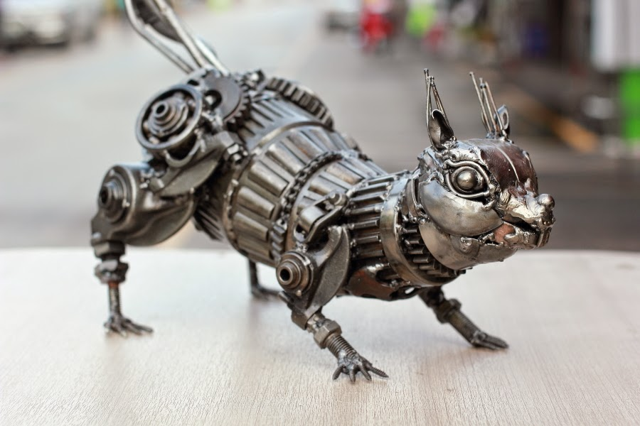 Metal Wall Decor Animals : Metal art sculpture animal wall
