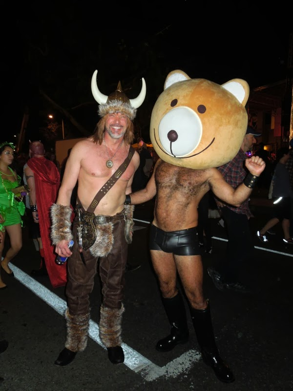 Viking Teddy bear costumes West Hollywood Halloween 2013