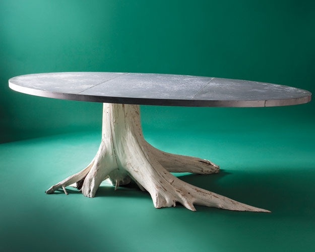 getting to the root of the tree trunk table
