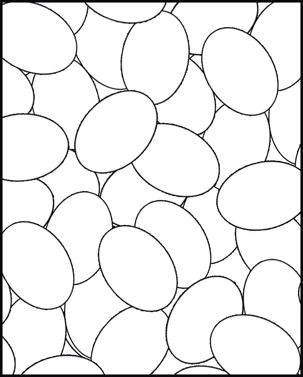 EGGS COLORING PAGE FOR EASTER title=