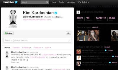Twitter da Kim Kardashian