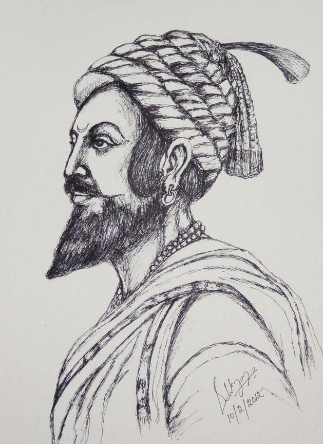Shivaji Maharaj Sketch | Holidays OO