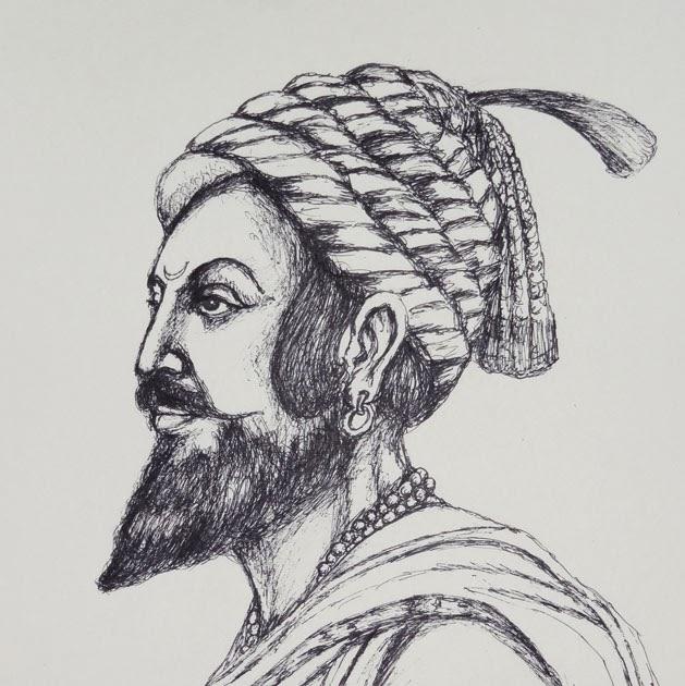 Balak ki shan chhatrapati shivaji maharaj pen sketch