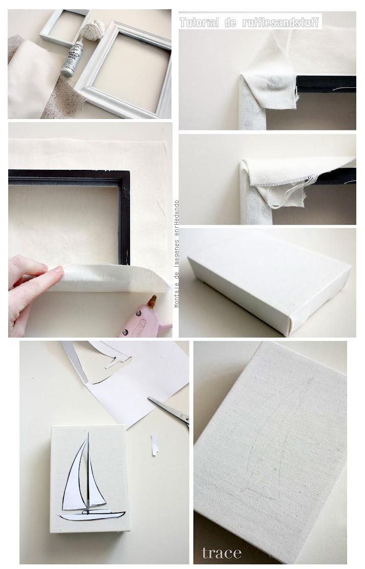 Enrhedando manualidades - Como hacer un marco para un cuadro ...