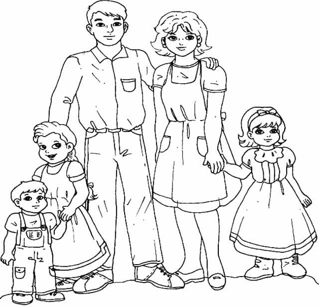 Dibujos Para Colorear De Una Familia