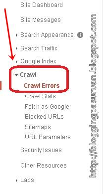 Cara Mengatasi Crawl Error dengan Google Webmaster Tools