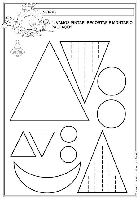 Atividade Formas Geométricas Palhaço