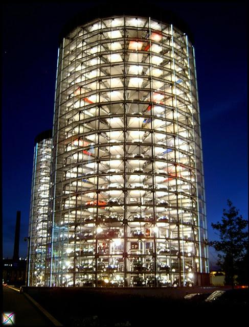 World largest car parking in Germany buildings strange architecture Garage Images