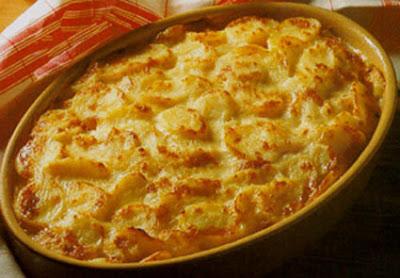 Gratinado de Batatas e Presunto