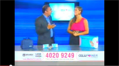 Renata Palis apresenta Celupower Programa Cidade Alerta Record