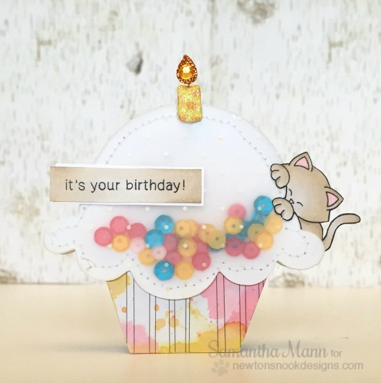 Cupcake Inspirations Challenge - Confetti | Card by Samantha Mann | Stamps by Newton's Nook Designs