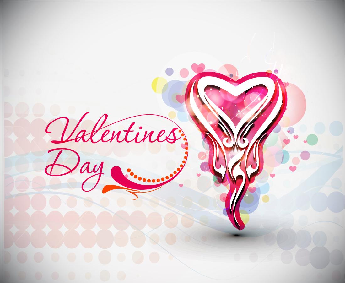 美しいバレンタインデーの背景 beautiful heart-shaped Valentine pattern イラスト素材2