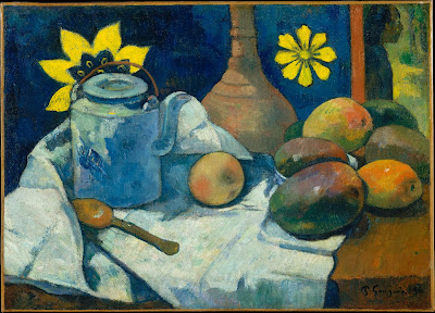 Paul Gauguin - Nature morte avec théière et fruits,1896.