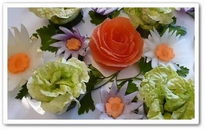 видео урок Как сделать цветы из капусты