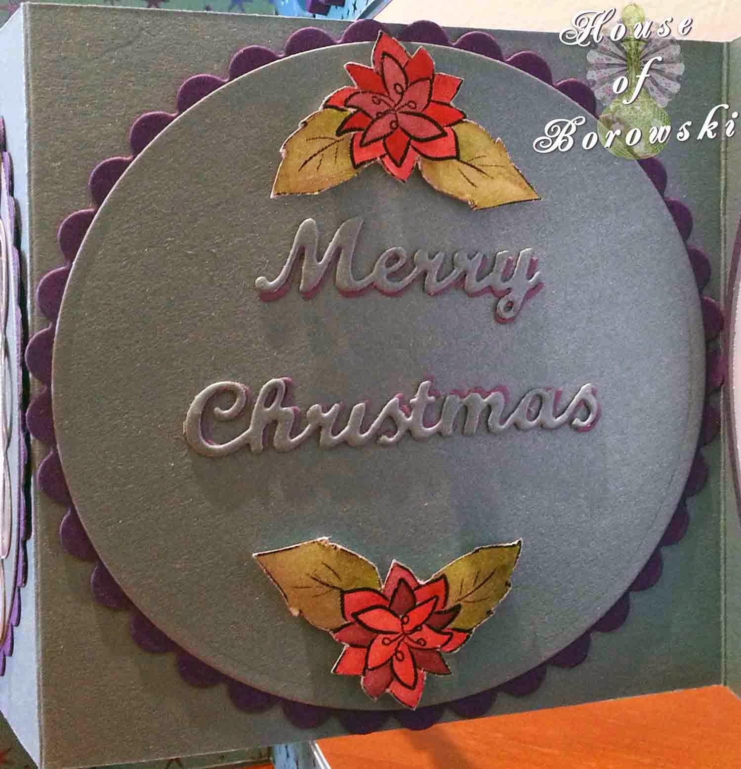 Fitztown, HOB, fitztown winter 4, inktense pencils,spellbinders circles,elizabeth craft merry christmas,kaisercraft,cuttlebug snow fun