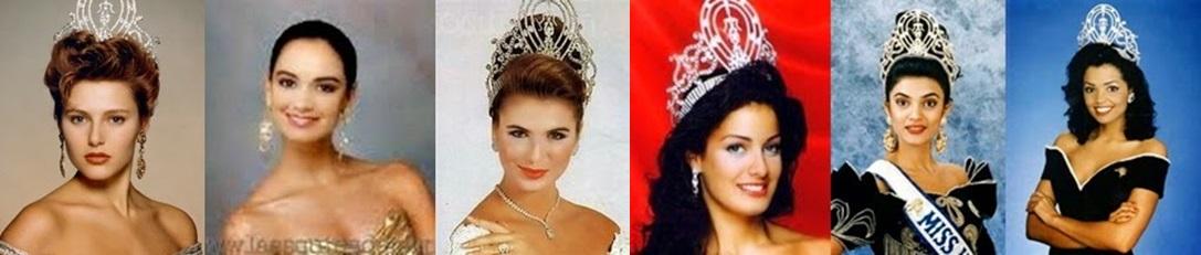 Misses Universo: 90, 91, 92, 93, 94 e 95