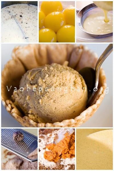 Cách làm kem Bí Ngô hương Vani thơm ngọt1