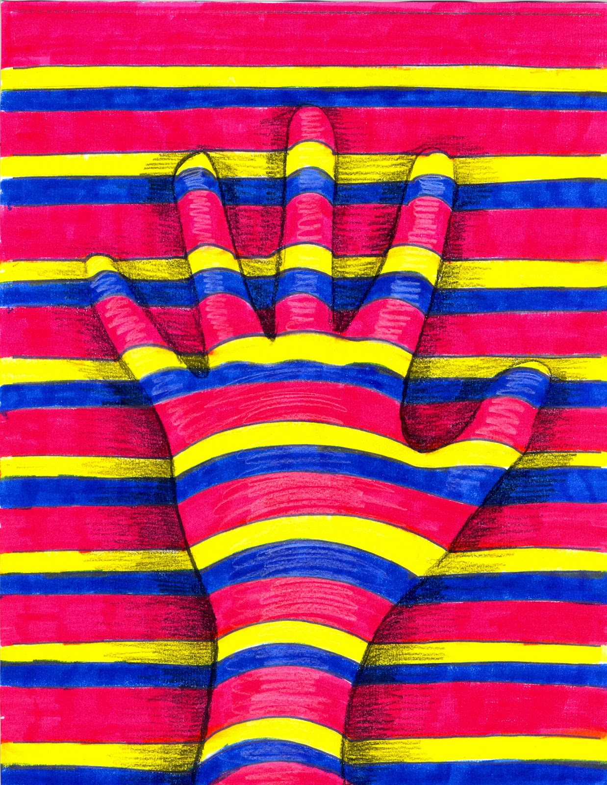 Line Color Form : The lost sock art elements using hands