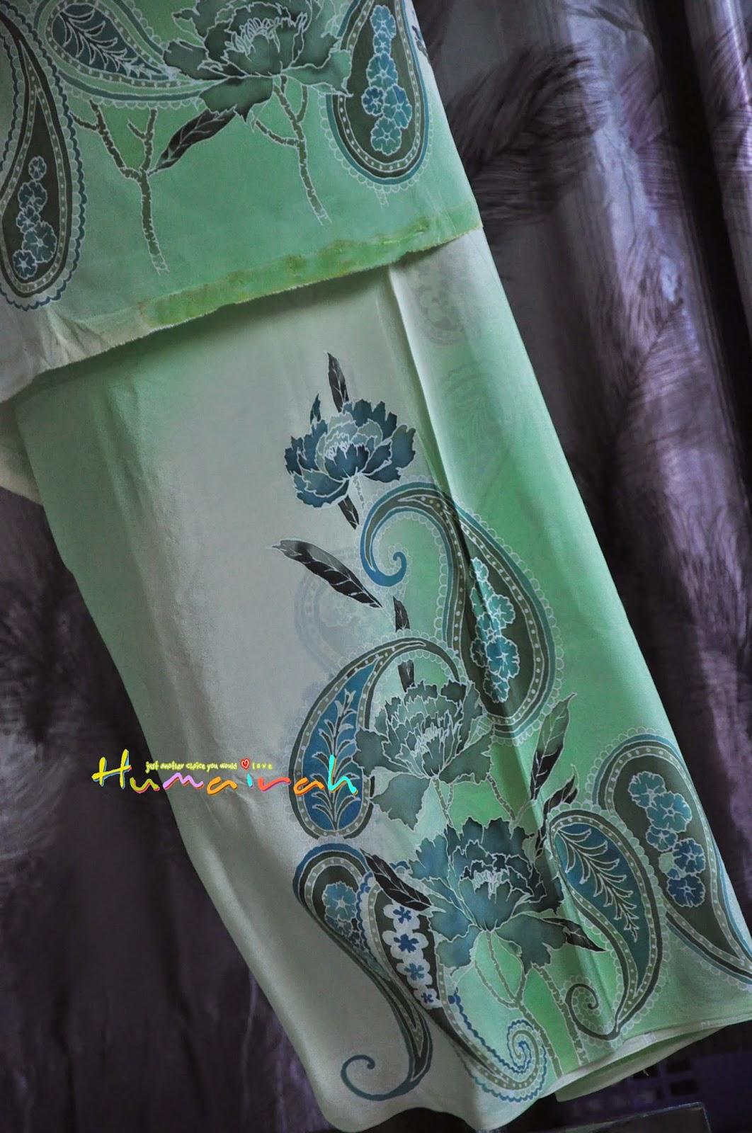 Green Paisly Exclusive Handmade Terengganu 6