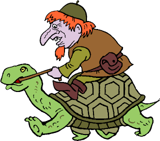 Ride a Turtle Free Clipart