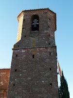 Campanar del segle XVIII de Sant Martí del Brull