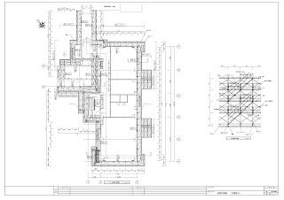 枠組足場 先行手摺 仮設計画図 平面図