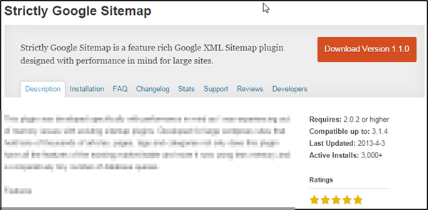 Strictly Google Sitemap