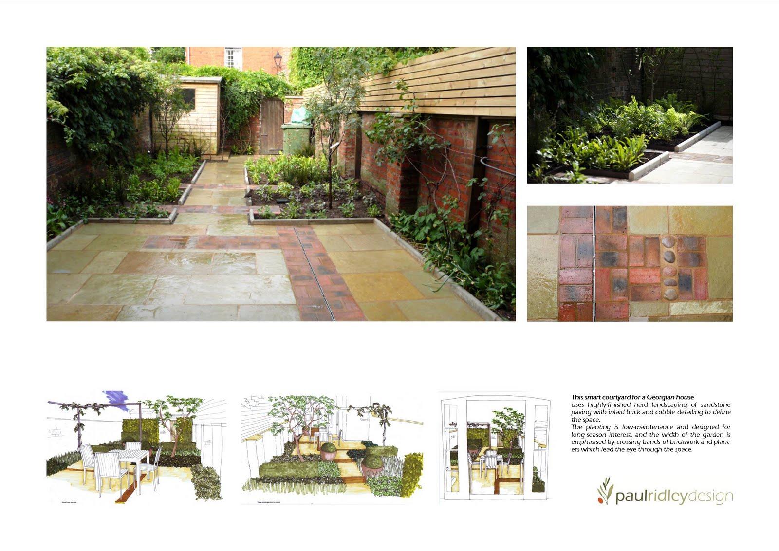 Paul ridley design june 2011 for Georgian townhouse garden design