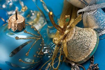 Postales para Navidad con adornos navideños