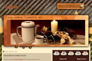 plantilla para blogger caffeine